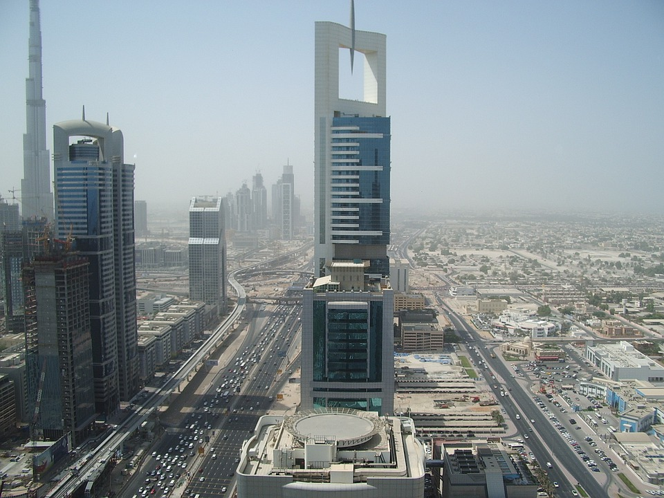 Dubai, City, Street, Building, Uae, Road, Architecture