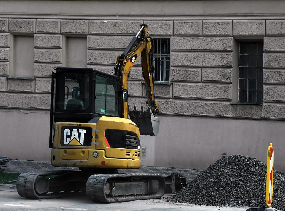 Excavator, Construction Site, Shovel, Building