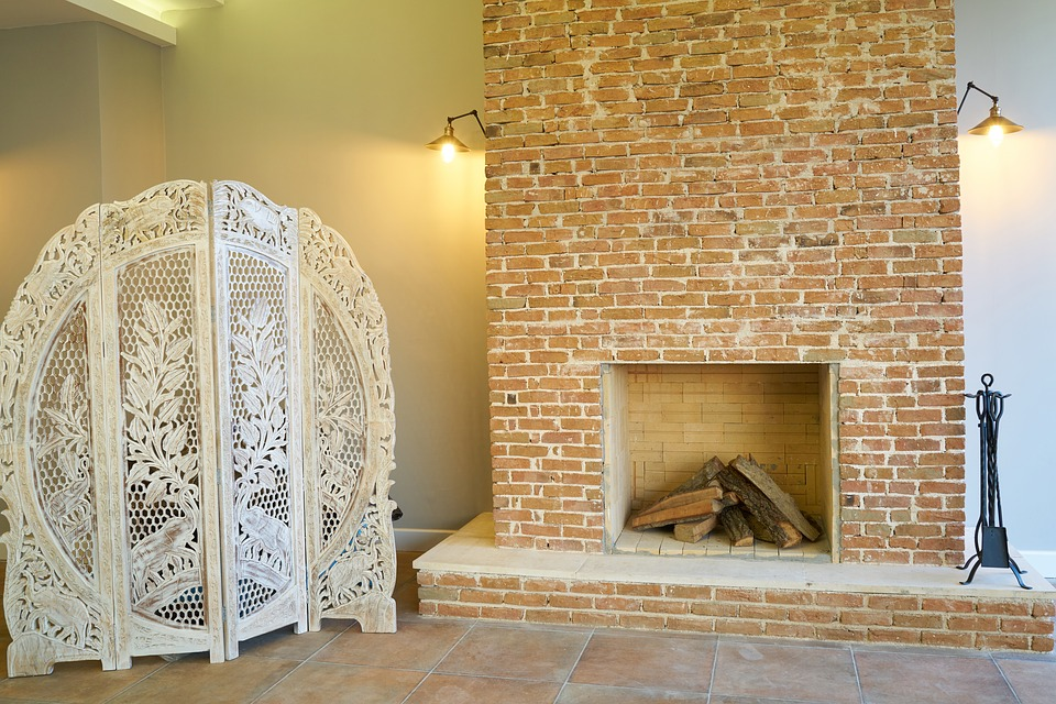 Fireplace, Home, Hotel, Decor, Construction, Building