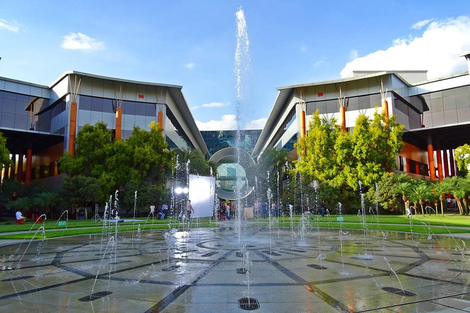 Building, Architecture, Fountain, Modern, Corporate