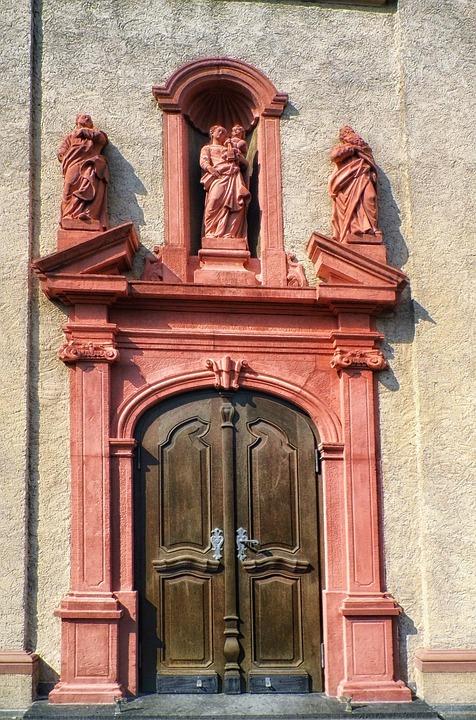 Germany, Door, Wood, Wooden, Architecture, Building