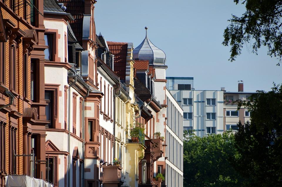 Architecture, Facade, Weststadt, Heidelberg, Building