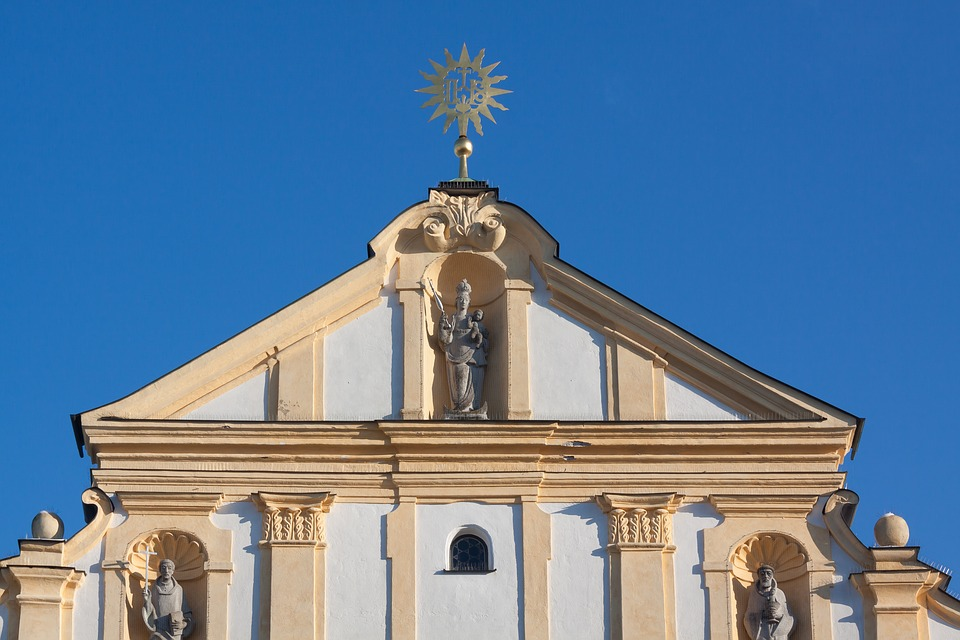 Facade, Building, Home, Architecture, Church, Classical