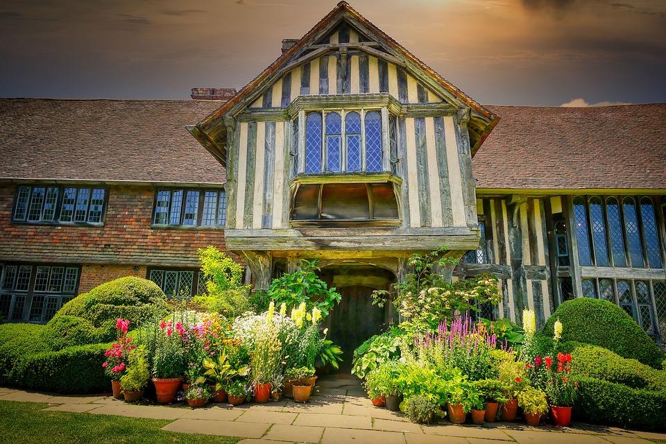 England, Manor, House, Building, Villa, Architecture