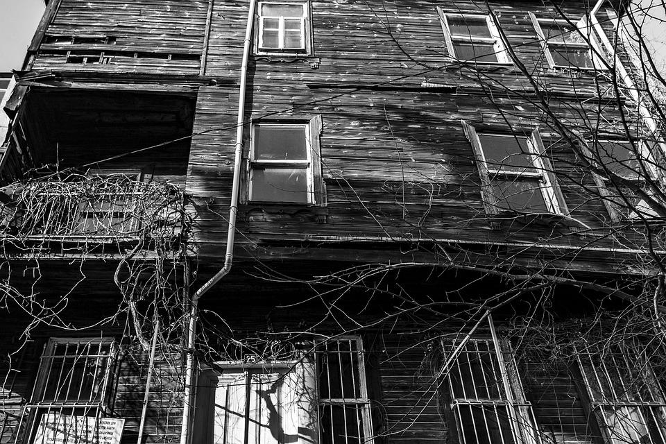 House, Building, Arnavutkoy, Black, White, History