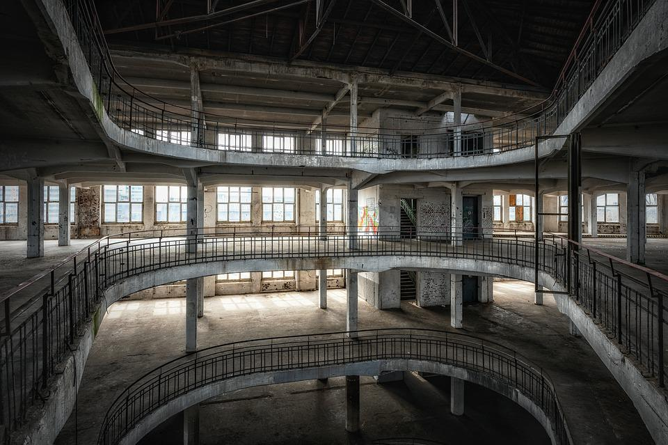 Building, Abandoned, Floors, Interior, Architecture