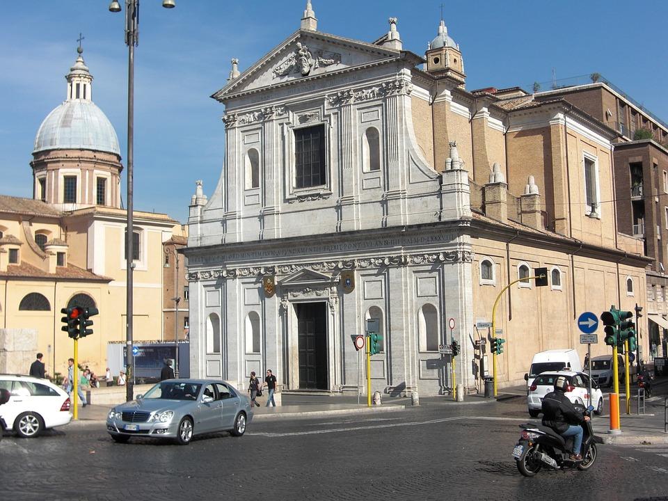 Rome, Italy, Building, Architecture, Facade