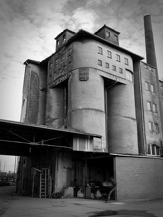 Industrial Building, Old, Factory, Building, Leave