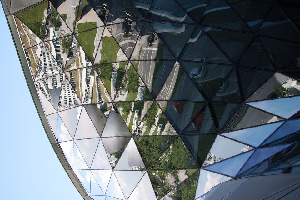 Bmw World, Munich, Architecture, Building, Mirroring