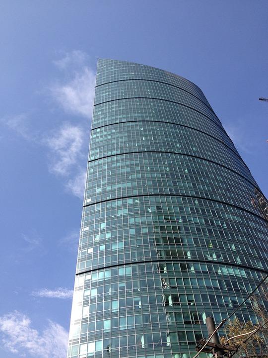 City, Mexico, Sky, Tall, Building, Glass, Modern