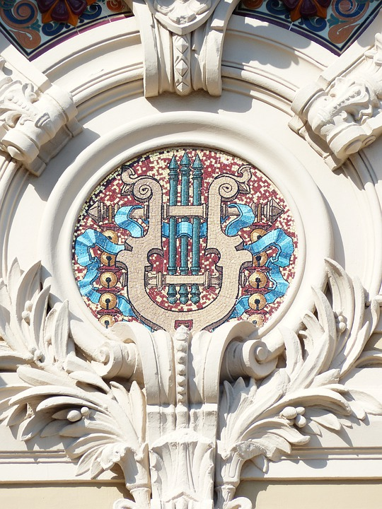 Mosaic, Rosette, Stucco, Ornament, Building