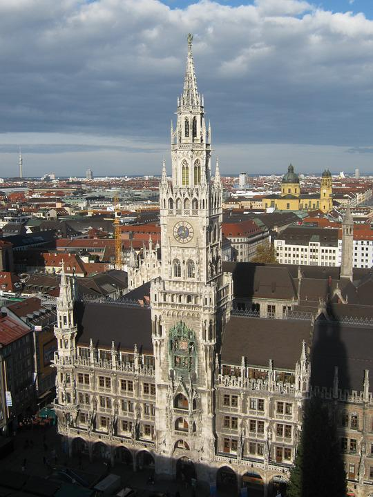 Munich, Church, Tower, Bavaria, Steeple, Building