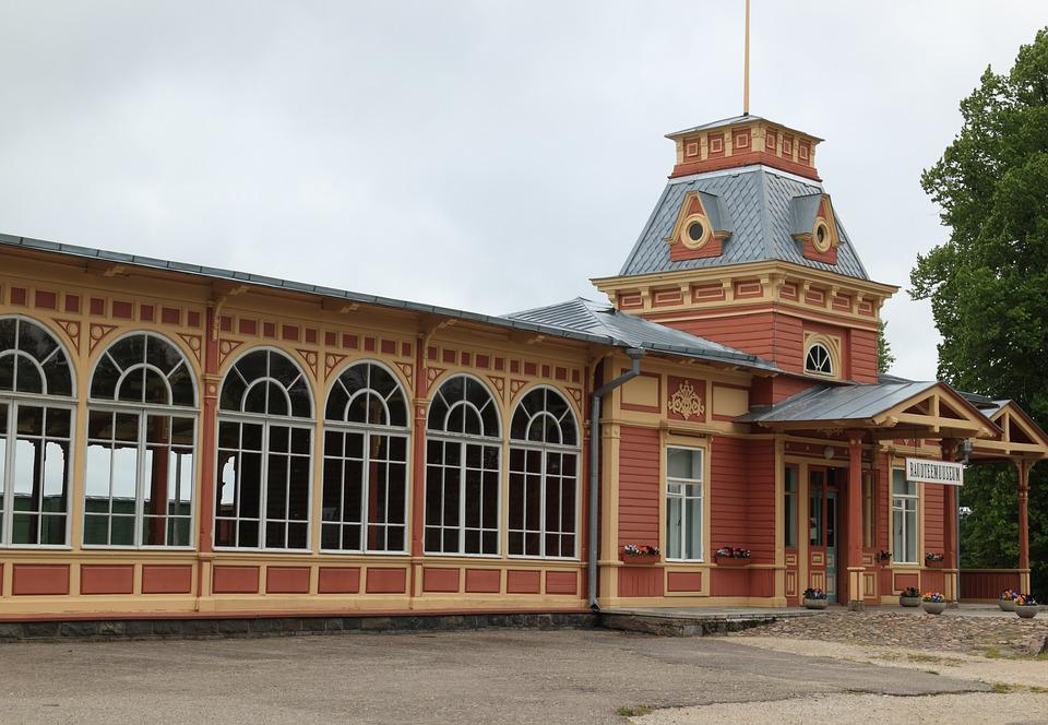 Estonia, Haapsalu, Railway, Museum, Station, Building