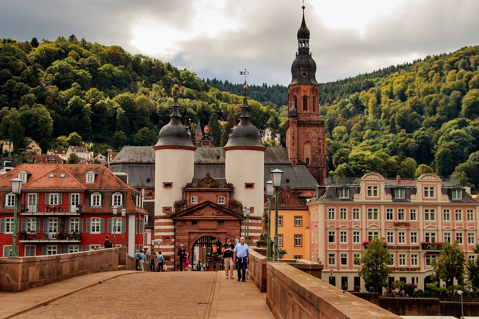 Heidelberg, Bridge, Neckar, Old Bridge, Building