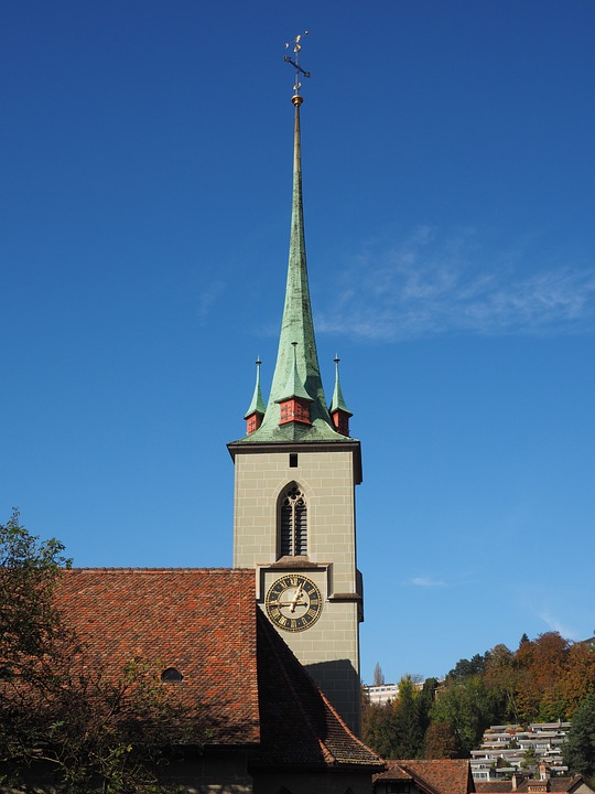 Church, Steeple, Nydeggkirche, Bern, Building