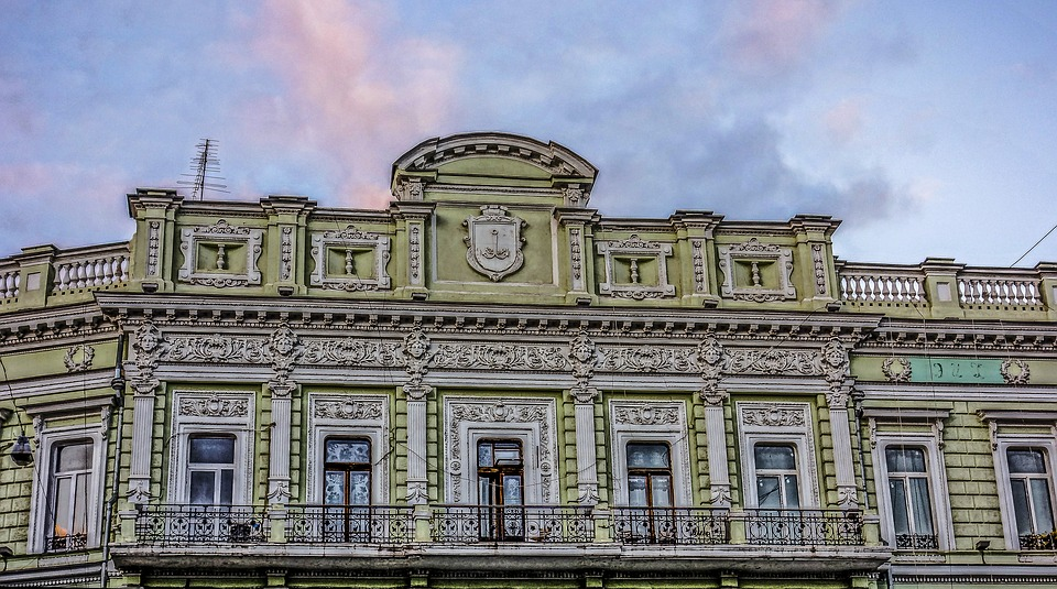 Odessa, Building, Sunset, Balcony