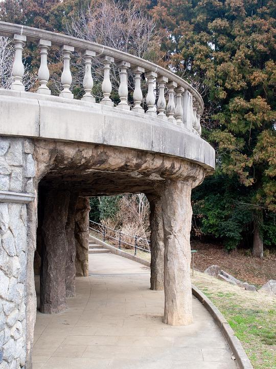 Park, Ruins, Pillar, Building, Architecture, Old