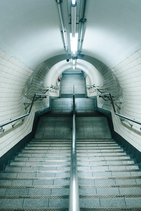 Architecture, Building, Handrail, Passage, Perspective