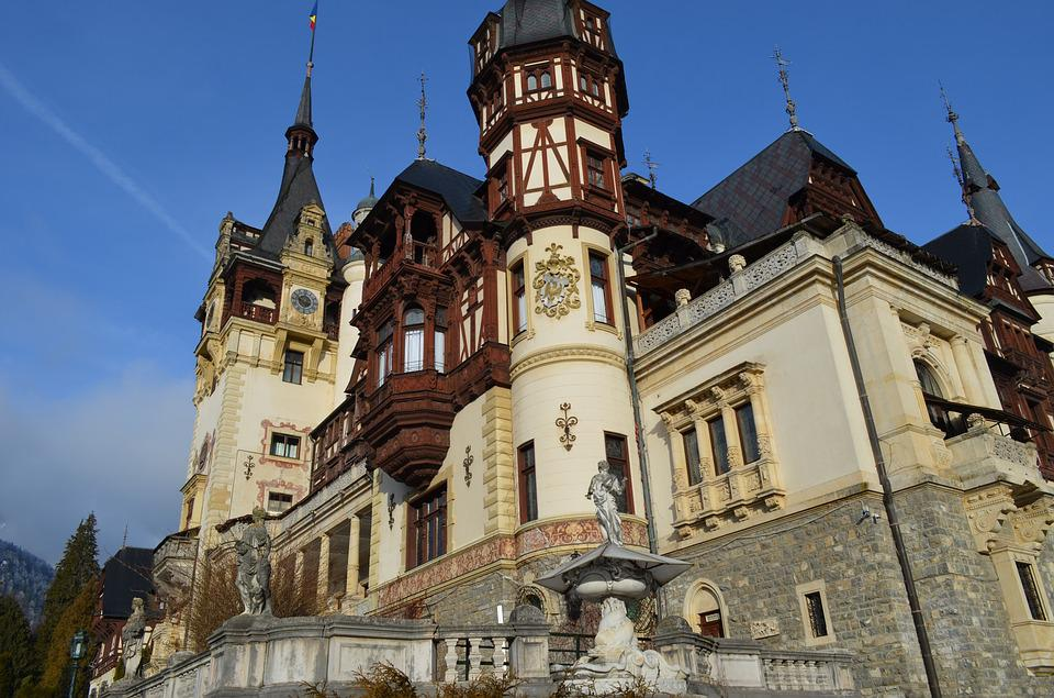 Castle, Peles, Nice, Building, Romania, Sinaia, Morning