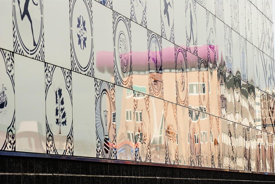 Building, Enschede, Reflection, Architecture