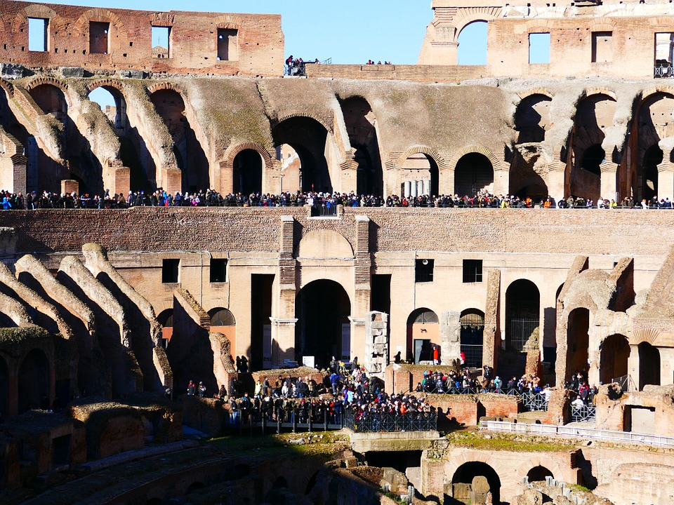 Colosseum, Rome, Amphitheater, Landmark, Building, Old