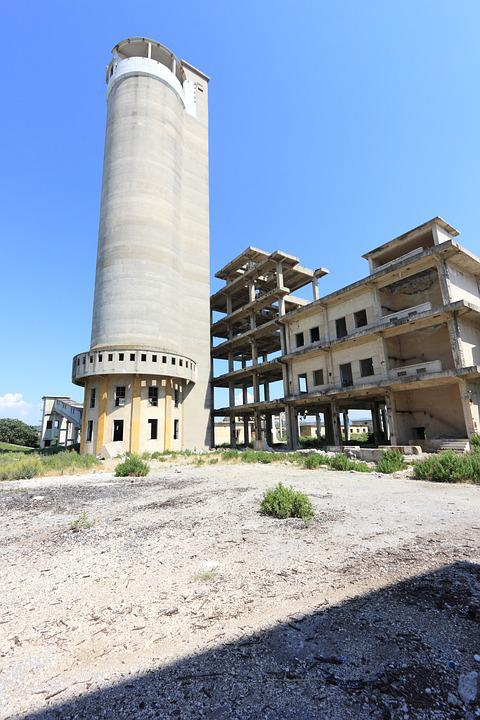 Albania, Fier, Ruins, Industry, Building, Plant