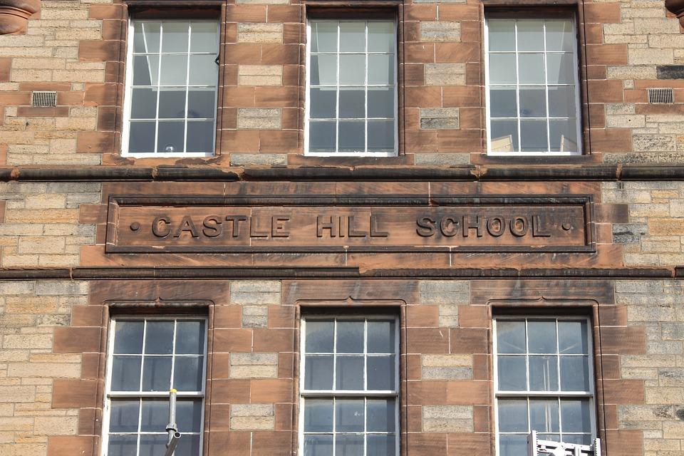 School, Scotland, Stone, Scottish, Building, House
