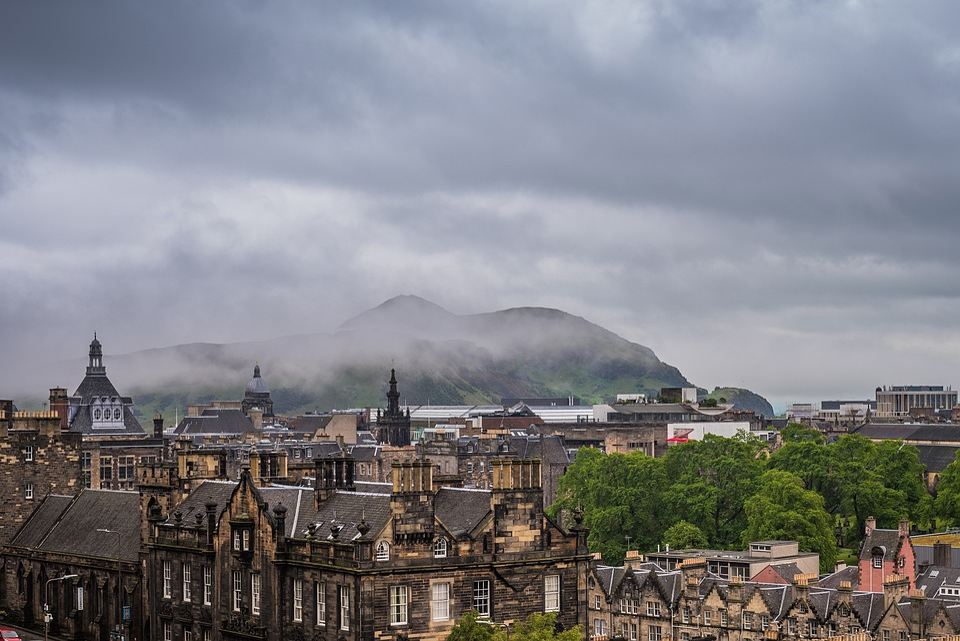 Edinburgh, Scotland, City, Clouds, Building, Scottish