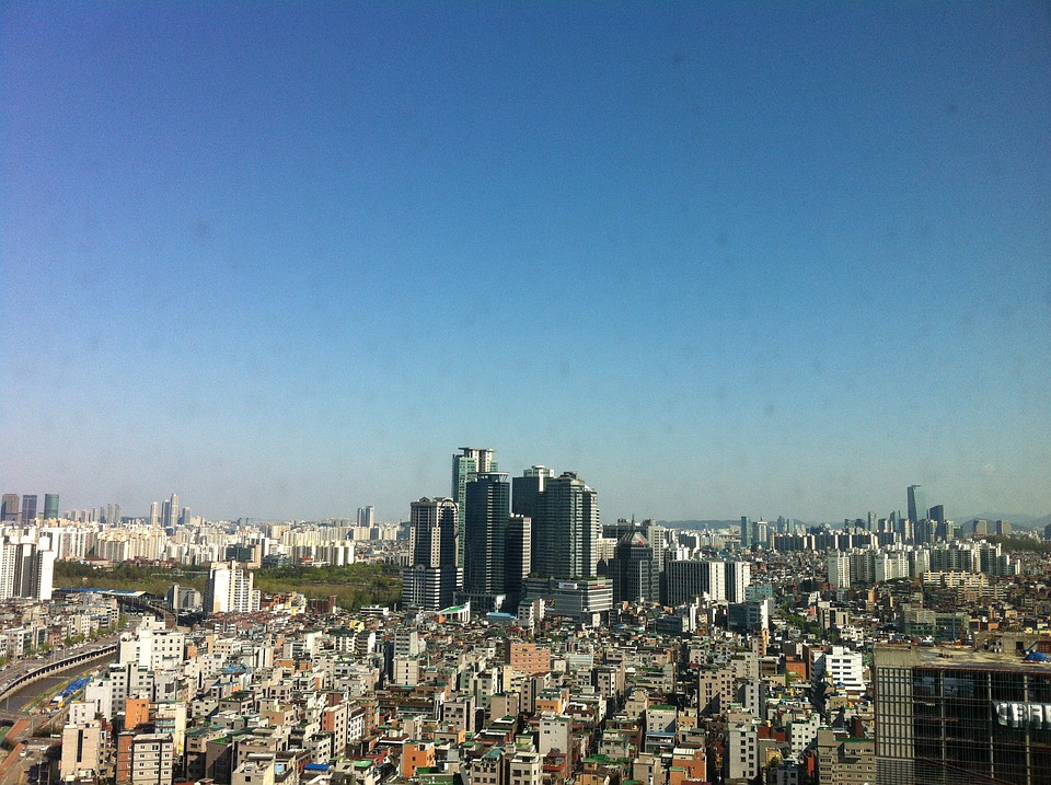 City, In The Foreground, Seoul, Sillim-dong, Building