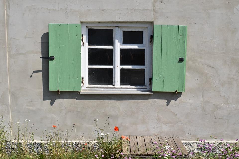 Window, Facade, Old Window, Building, Shutters, Green