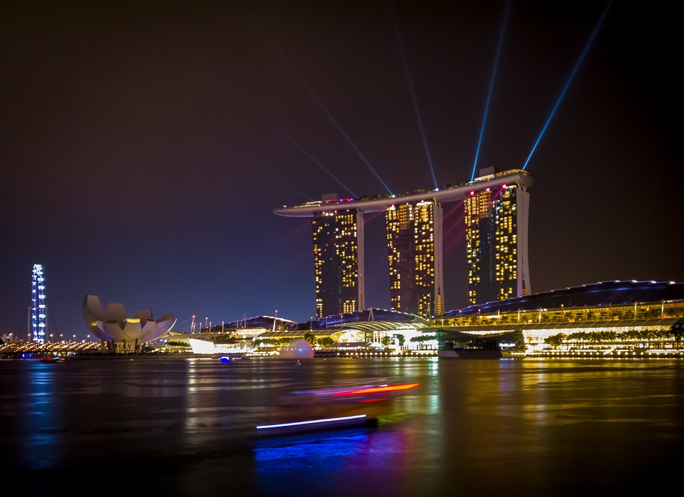 Singapore, Singapore River, Skyline, Building, Water
