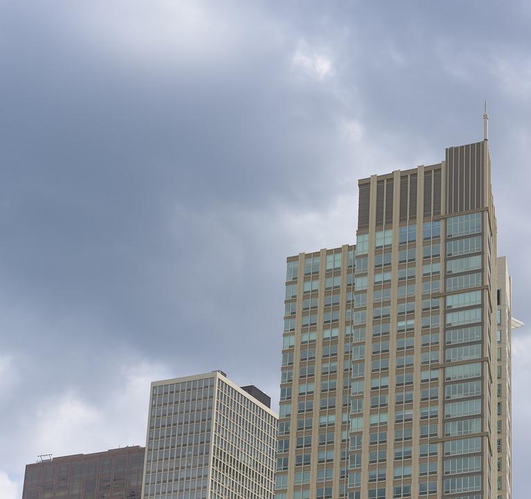 Cloudy, Sky, Clouds, Building, Skyscraper, Chicago