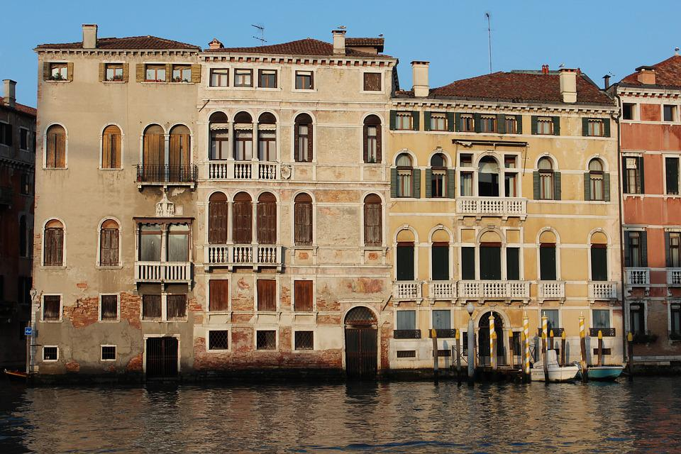 Building, Italy, Venice, Water, Sky, Architecture