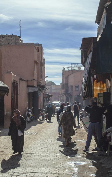 Morocco, Moroccan, Streets, Markets, Souks, Building