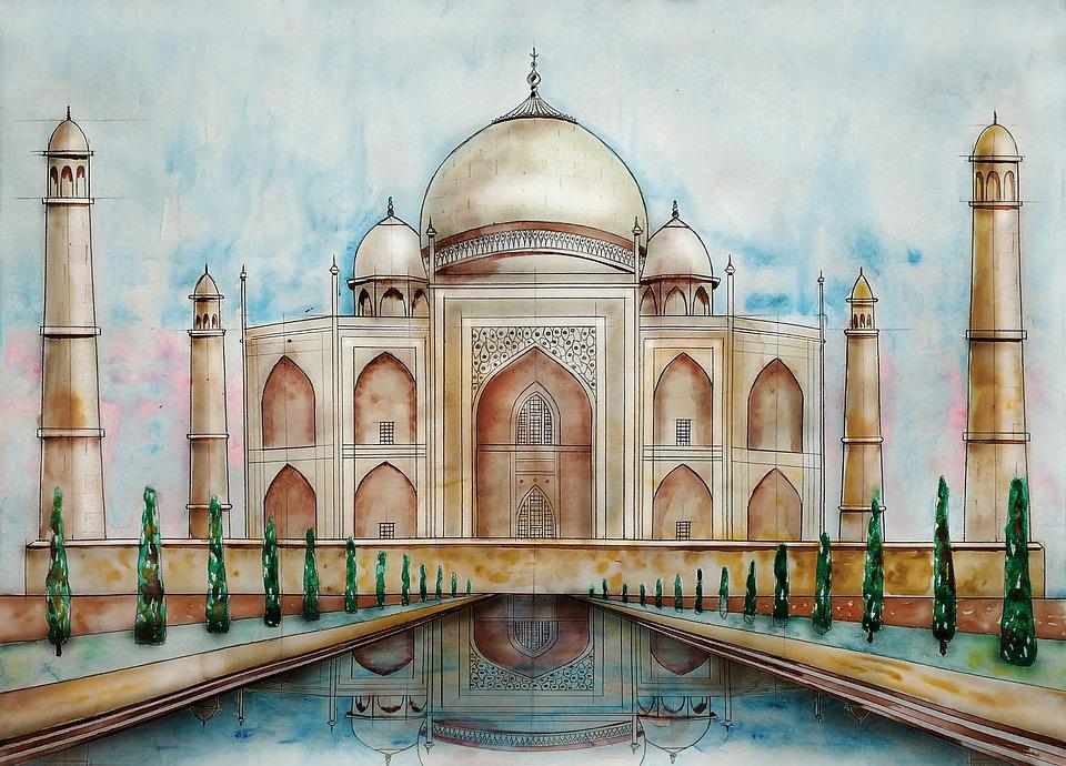 Taj Mahal, Mosque, Palace, Marble, Monument, Building