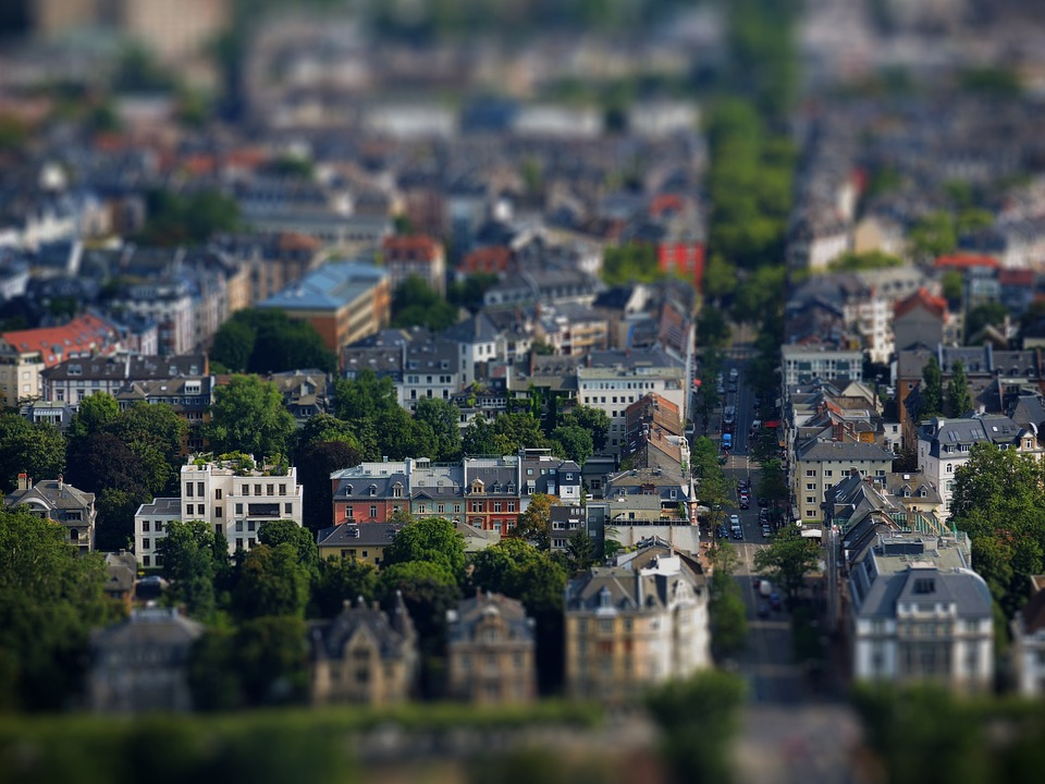 City, Road, Building, Tiltshift, Miniature