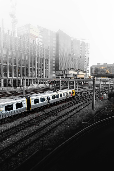 Train, Station, Building, Structure, Infrastructure