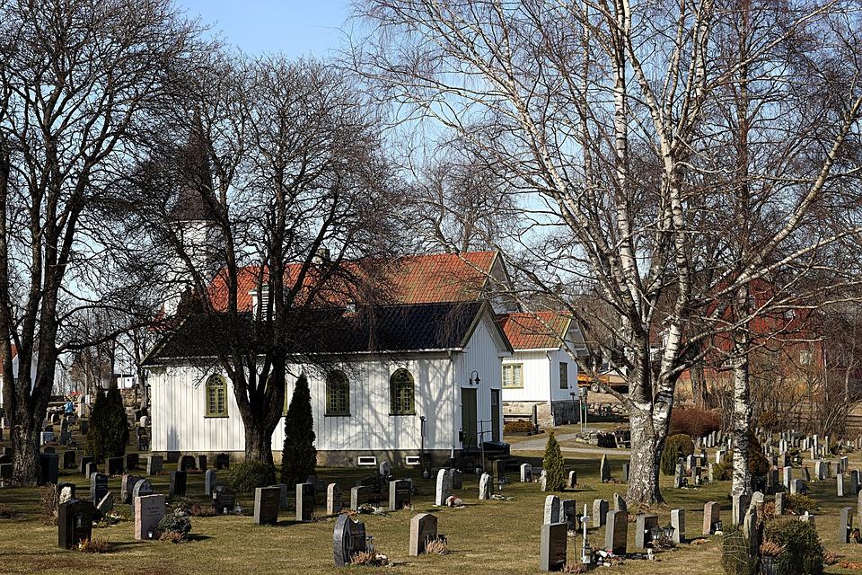 Church, Religion, Cemetery, Faith, Building, Trees