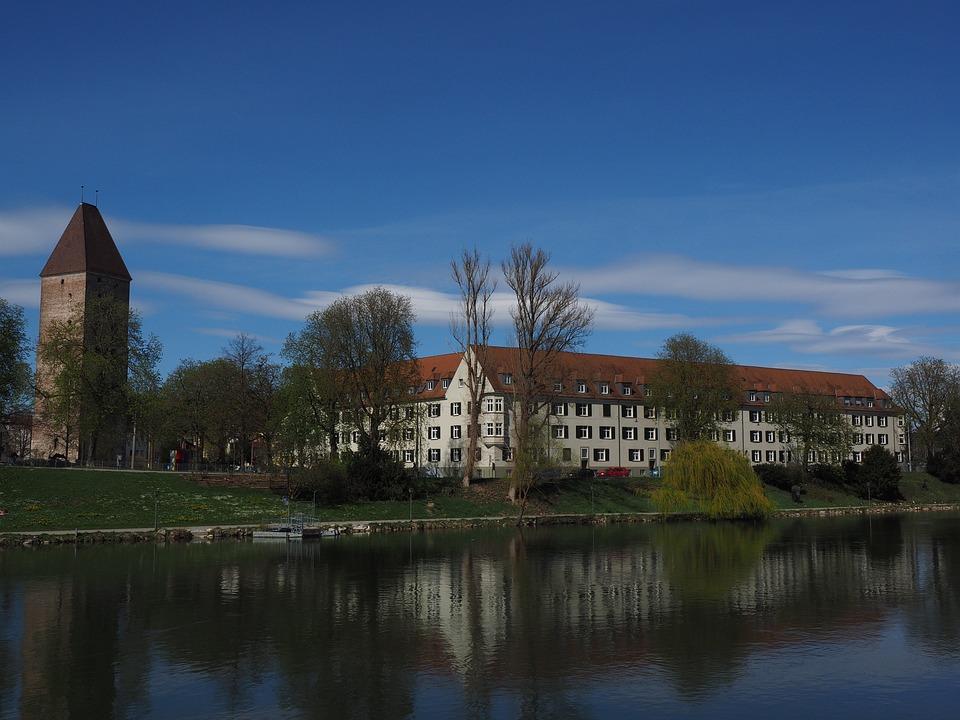 Goose Tower, Tower, Ulm, Danube, River, Building
