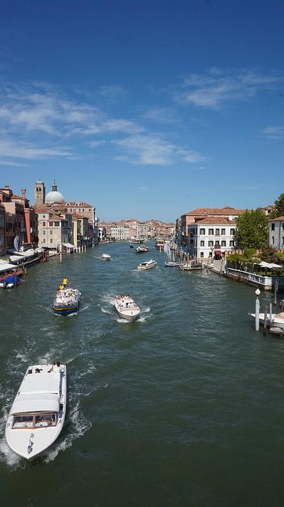Boats, City, Water, Venice, Channel, Building, Houses