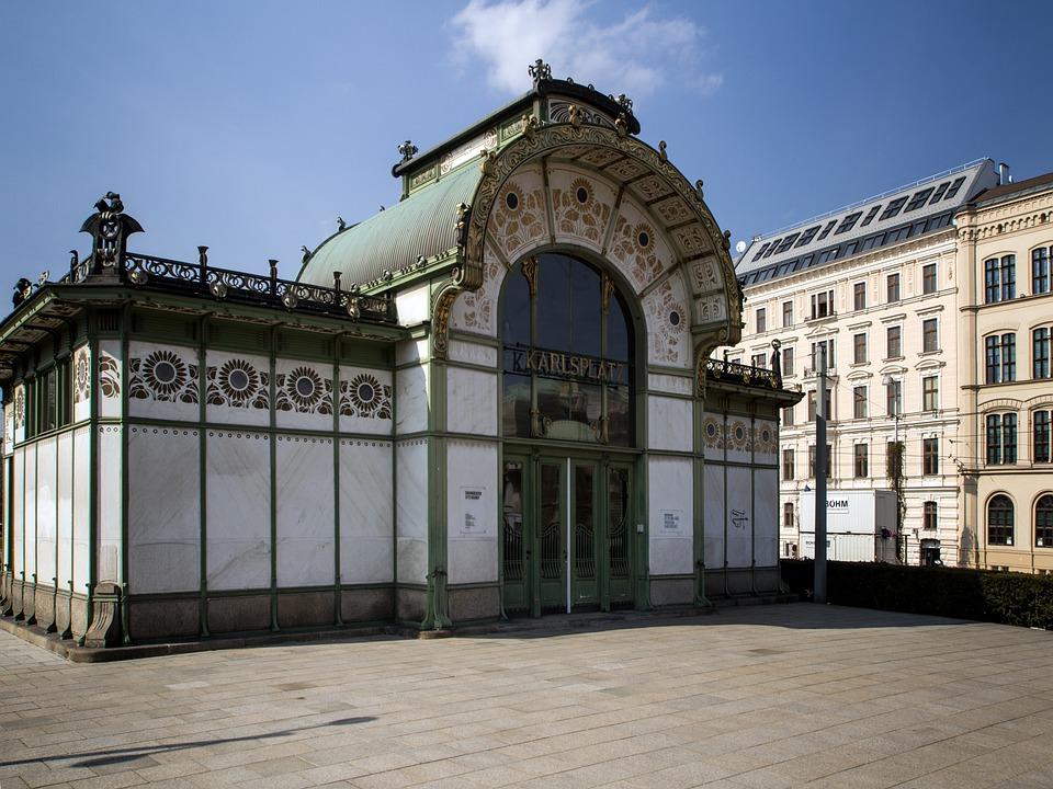Vienna, Charles Square, Building, Metro