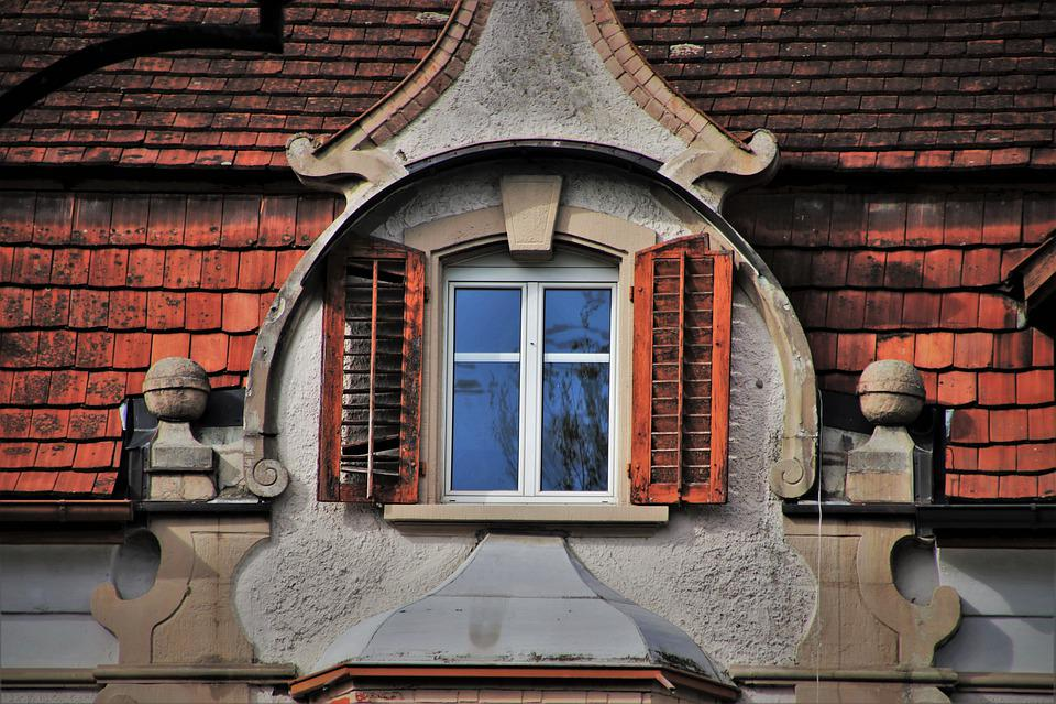 Window, Attic, Facade, Wall, Window Sill, Building