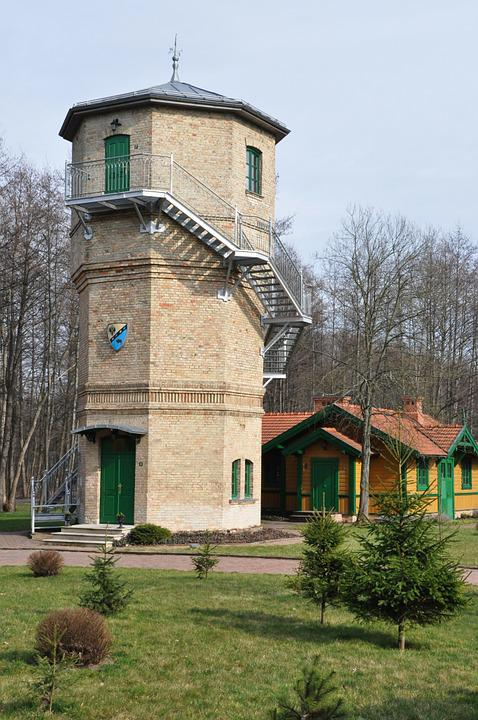 Tower, Water Tower, Building, Białowieża, Poland