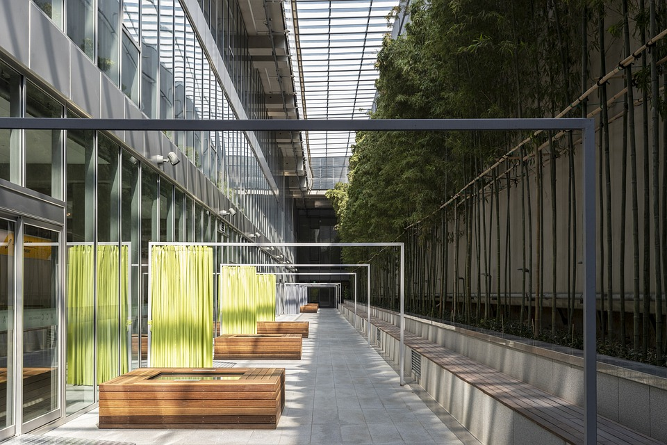 Bamboo, Garden, Building, Architecture, Railing, Window