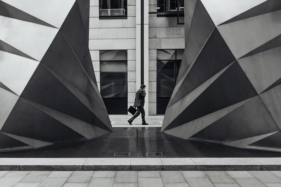 Architecture, Building, Businessman, City, Windows