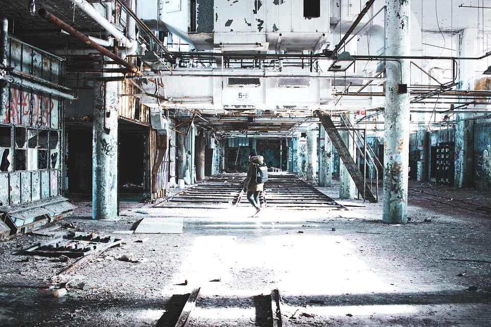 People, Woman, Alone, Old, Building, Steel