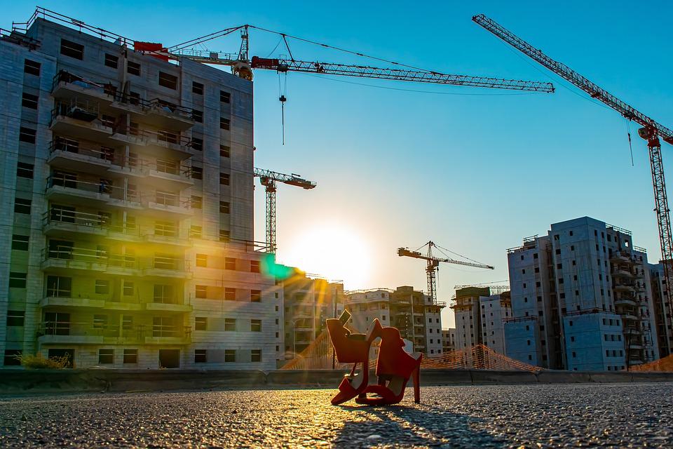 Shoes, Cranes, Buildings, Construction, Architecture