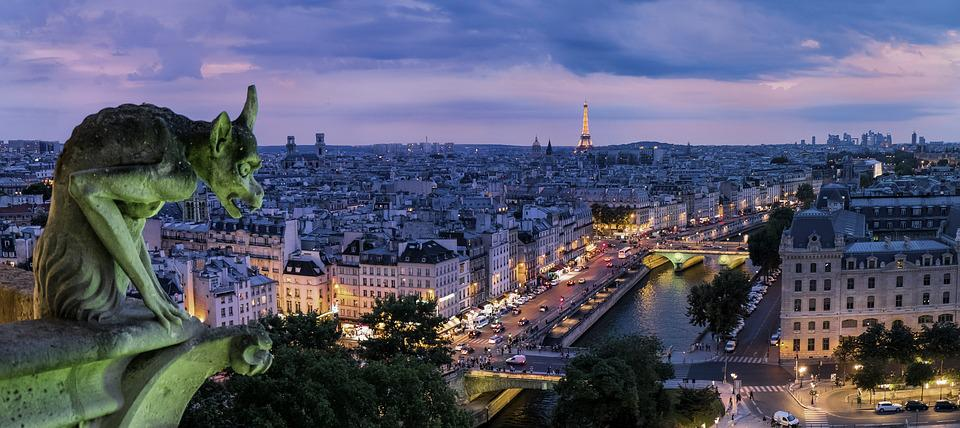 Paris, Gargoyle, France, Architecture, Buildings
