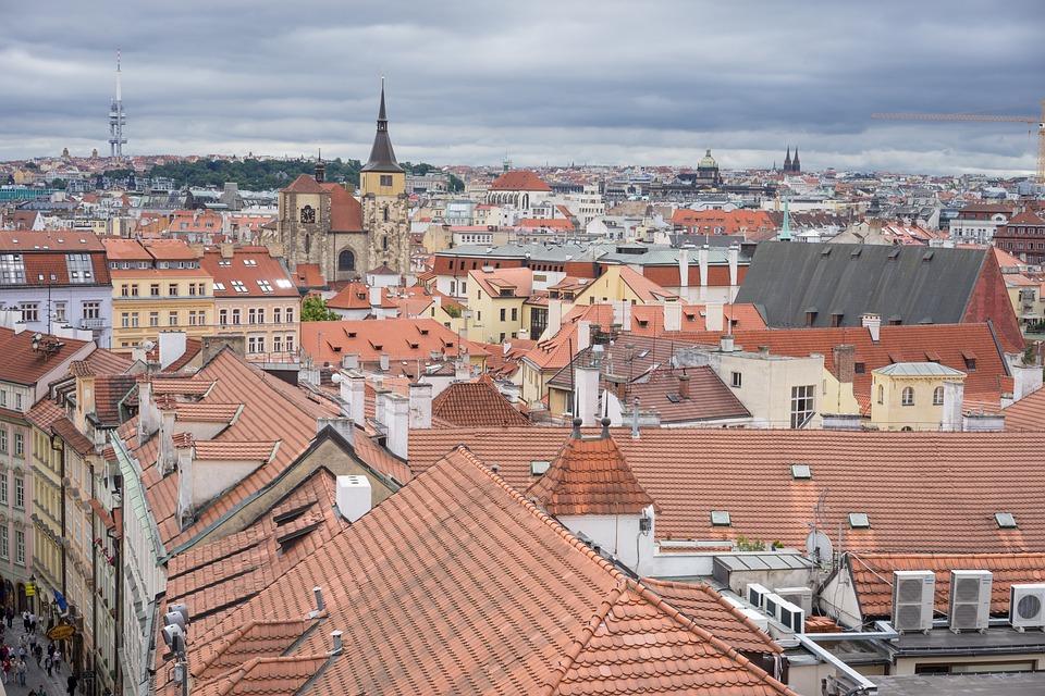 Prague, City, Town, Buildings, Architecture
