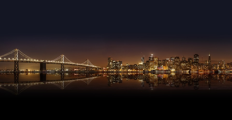Architecture, Bridge, Buildings, City, City Lights